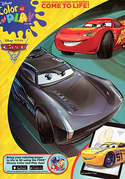 - Amazon.com: Disney Pixar - Cars 3 - Color And Play Coloring And Activity  Book - V2: Toys & Games
