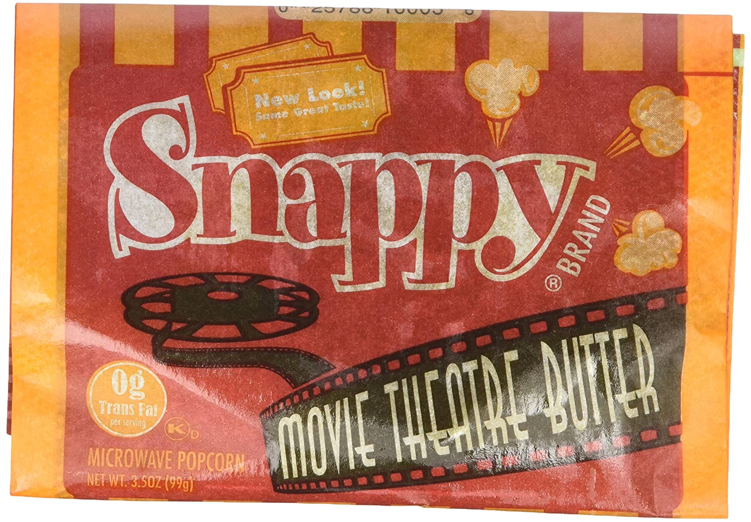 Amazon.com  Snappy Movie Theater Microwave Popcorn (32 count 3.5 oz. bags) 00fcdc58230f7