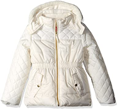 e1ed773c4 Amazon.com  Pink Platinum Girls  Quilted Puffer Jacket Mixed with ...
