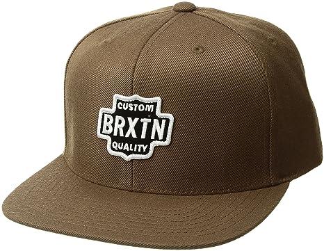 Amazon.com  Brixton Men s Garth Medium Profile Adjustable Snapback ... ac2649a5a32