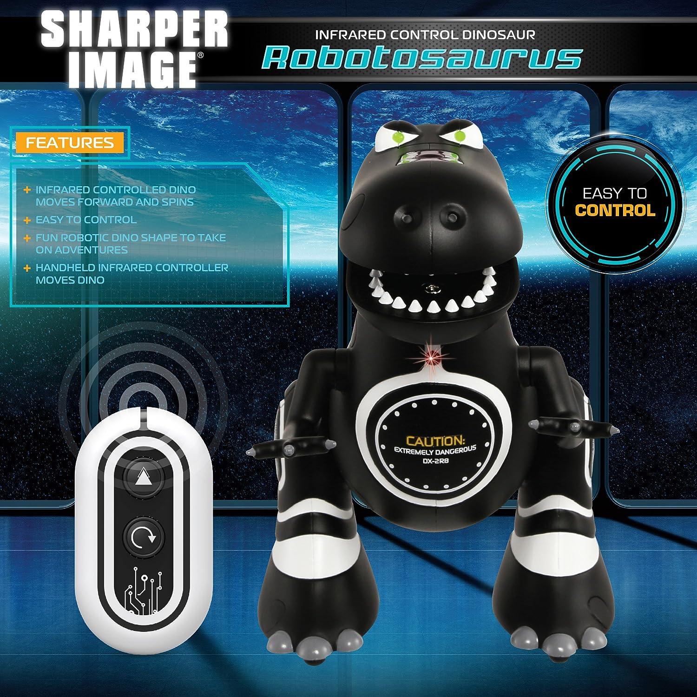 Sharper Image Remote Control Mini Rc Robotosaur Dinosaur Basic Robotics Ir Toy For Kids Miniature Futuristic Sci Fi Robot T Rex Moving Action Figure With