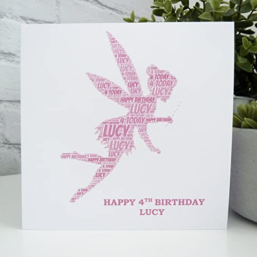 personalised birthday card Fairy any name//age//relation.