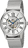 Stuhrling Original Men's 747M.01 Atrium Elite Automatic Skeleton Stainless Steel Watch with Mesh Band