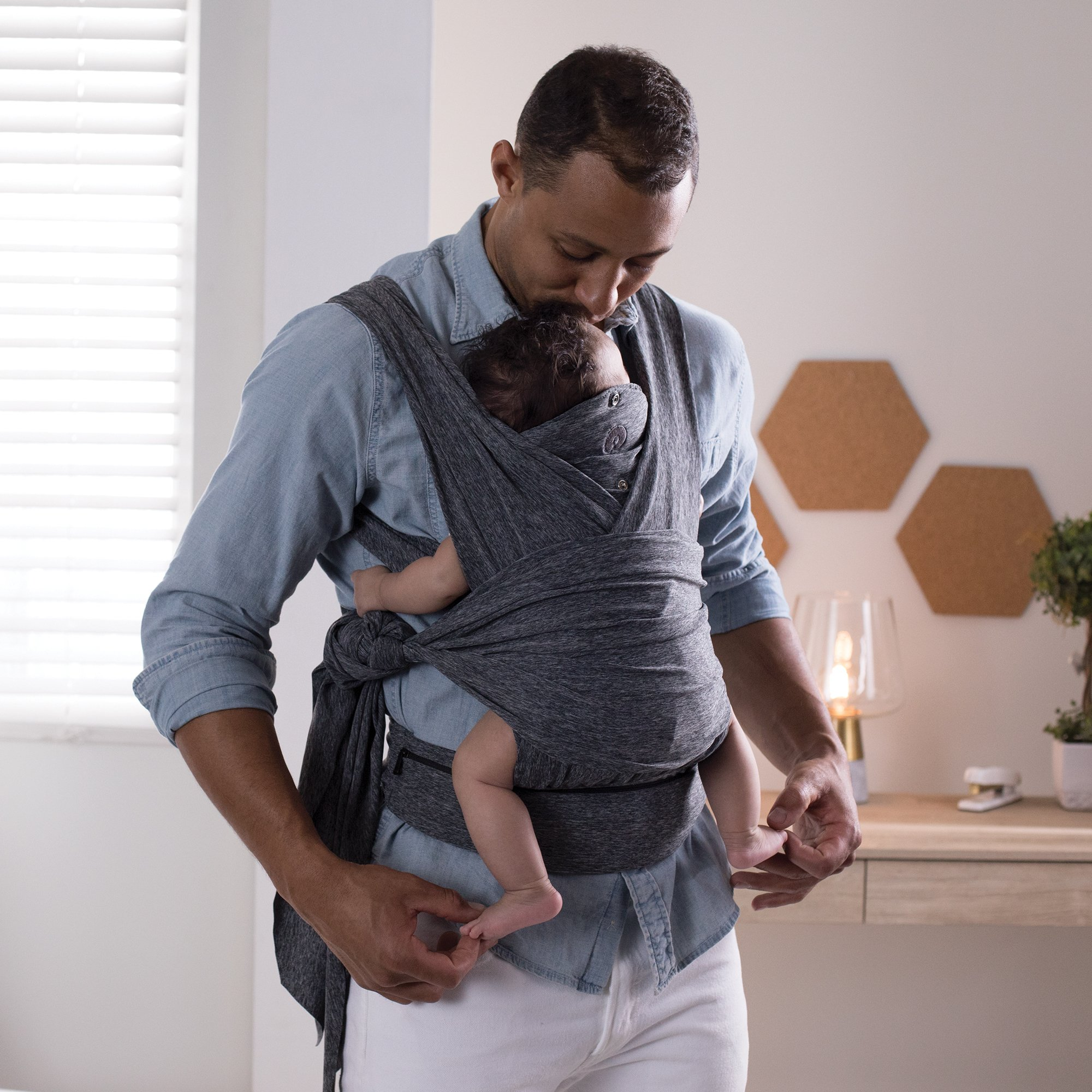 Boppy ComfyFit Baby Carrier, Heathered Gray by Boppy (Image #4)