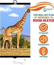 Invroheat - Decorative Wall Hanging Infrared Space Heater/Portable Heater 430W Perfect for Home or Office - Giraffes Design