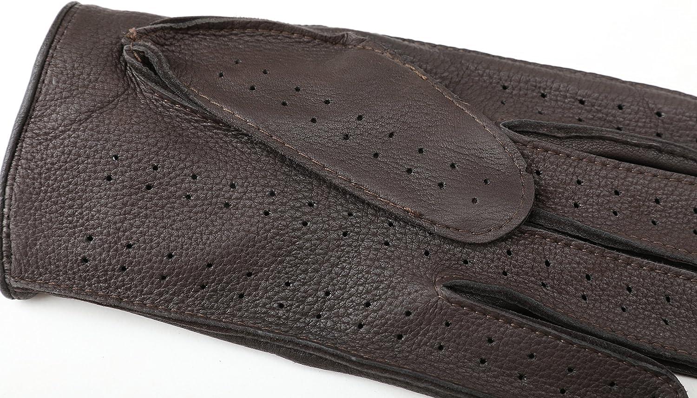 ZQ-Collection Herren Handschuhe Lederhandschuhe f/ür fahren Ungef/üttert Handschuhe