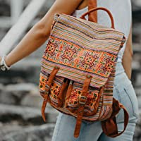 Changnoi Backpack with Vintage Hmong Hill Tribr Embroidery, Fair Trade Backpack, Ethnic Backpack, One of a Kind Backpack, Boho Backpack