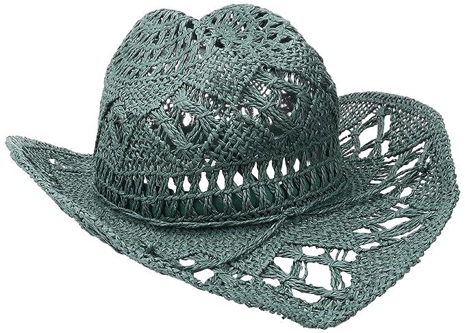 3ba5fdbb0ae  ale by alessandra Women s Caballera Crochet Toyo Cowboy With Memory Wire  Brim