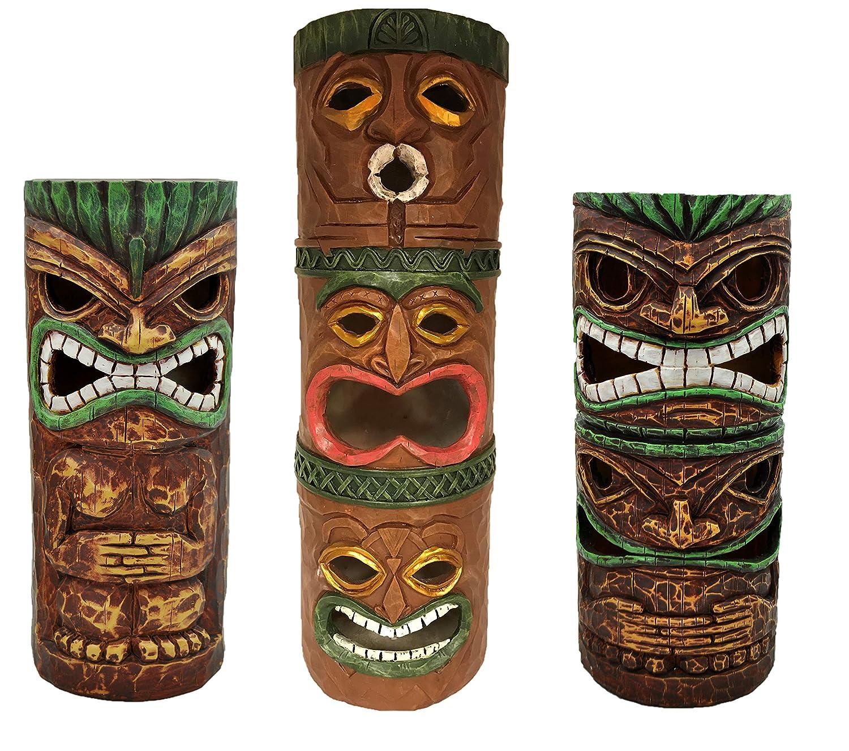 Moonrays 96337 Island Totem Statues, Brown