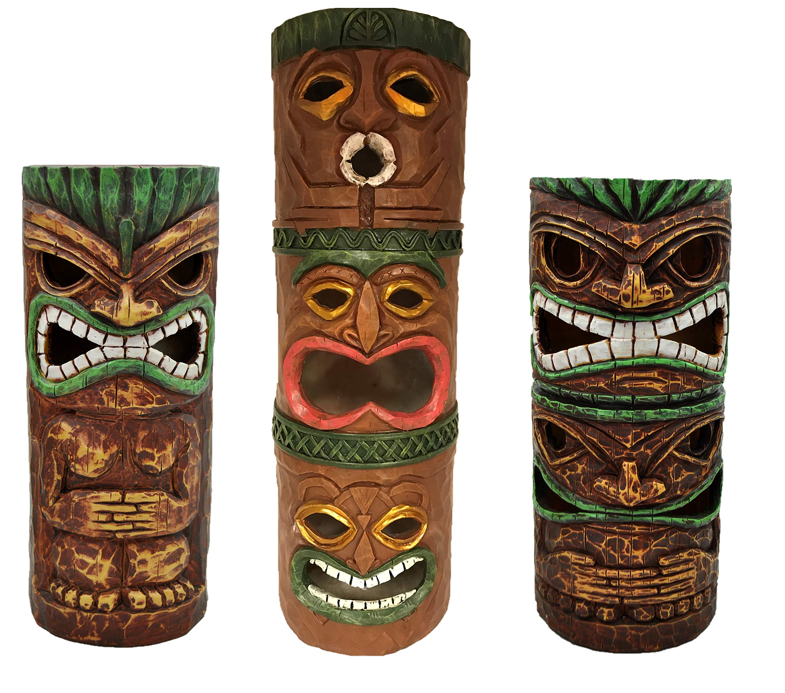 Moonrays 96337 Island Totem Statues, Brown