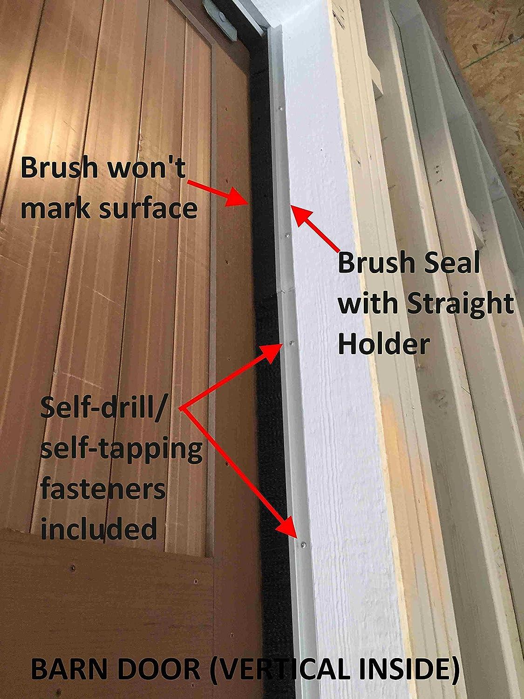 180deg Black Nylon Brush; 2.0 Brush x 1.0 Holder JaCor Medium-Duty Brush Seal; Clear Aluminum Straight Holder x 96 Long