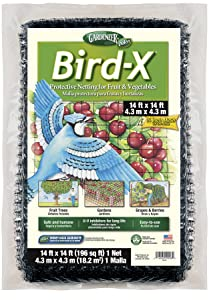 Dalen BN2 Gardeneer Bird-X Protective Netting 14' x 14' (1 Pack) (100055856) - Brown/A