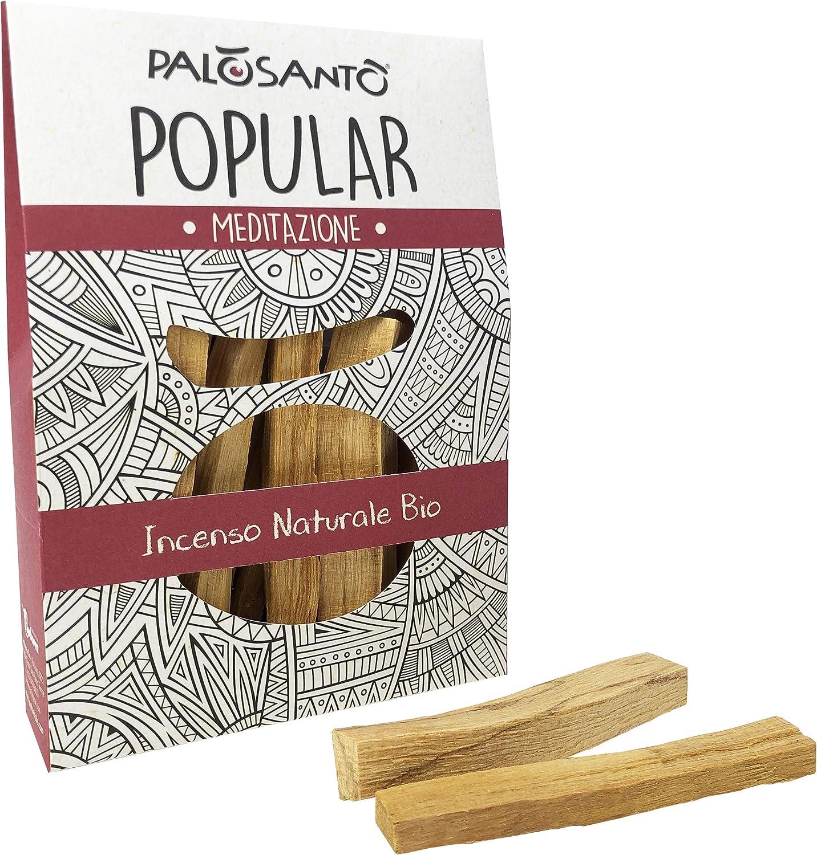 Incienso Natural Palo Santo - Madera Sagrada - Palitos Variedad Popular Suyo - gr. 80 - para recuperar energía, purificar la casa y Las Habitaciones - Aroma del Alma