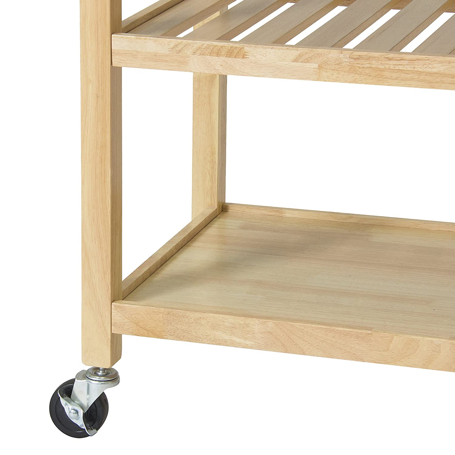 amazon com best choice products natural wood mobile kitchen amazon com best choice products natural wood mobile kitchen island utility cart with stainless steel top restaurant kitchen islands carts
