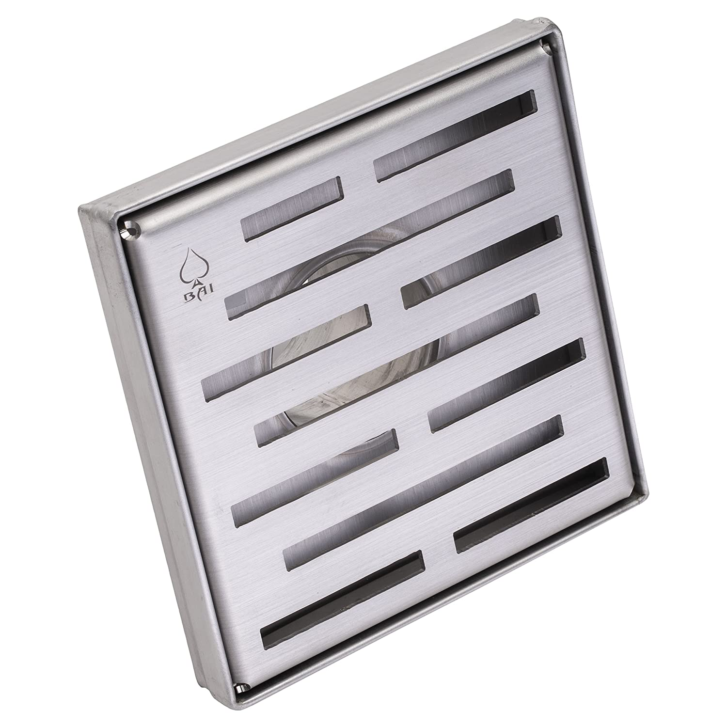 "BAI 0565 Stainless Steel Square Shower Drain 5""x 5"" 30%OFF"