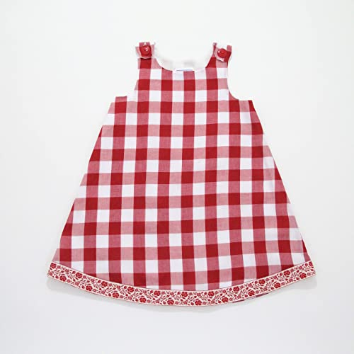 d0870c9cb Amazon.com: Red & White Gingham Plaid Baby Girls Picnic Dress ...
