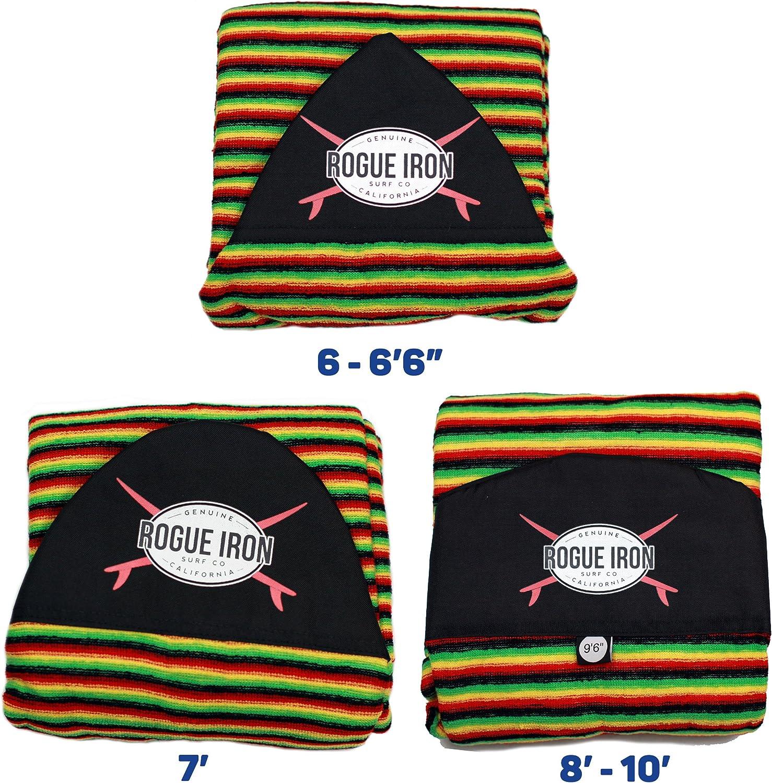 Shortboard, Longboard, and Hybrid Rogue Iron Sports Surfboard Sock Cover Lightweight Board Bag