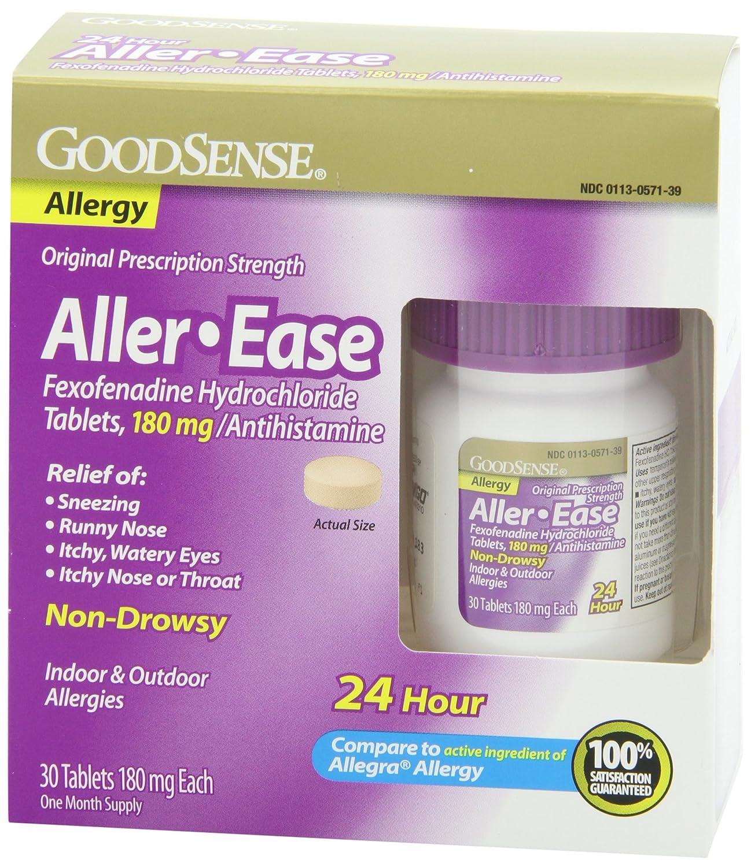 Fexofenadine hcl 180 mg 24 hour.doc - Amazon Com Goodsense Aller Ease Fexofenadine Hydrochloride Tablets 180 Mg Antihistamine 30 Count Health Personal Care