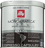Illy Caffe Monoarabica Brazil Iperespresso Coffee Capsules 21 count 5 oz