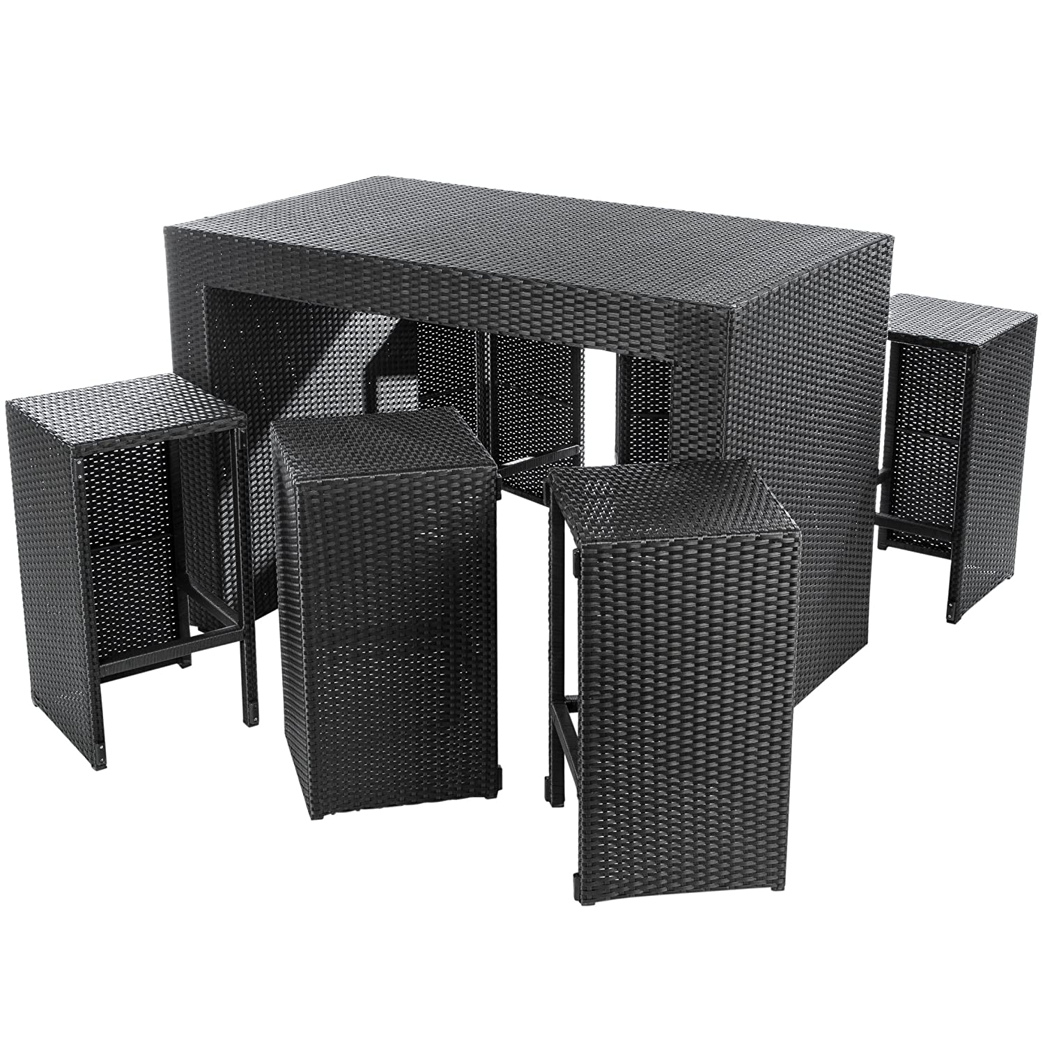 Amazon.de: Ultranatura Poly-Rattan 2in1 Bar & Lounge Set Palma-Serie ...