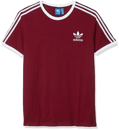 Adidas 3Stripes tee Camiseta, Mujer, Rojo (Buruni), 46