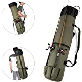 Wowelife Fishing Rod Carrier Fishing Reel Organizer Pole Storage Bag for Fishing and Traveling,A Gift for Family Father, Daug