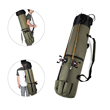1ee0cbc04bda Wowelife Fishing Rod Reel Case Bag Organizer Travel Carry Case ...