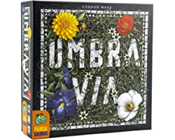 Pandasaurus Games Umbra Via - Strategy Board Game - Secret Auction & Tile Placement, Family-Friendly Board Games for Game Nig