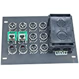 FBL12+AC Recessed Floor Box With 6 XLR Female, 2