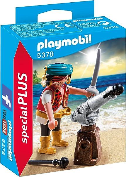 PLAYMOBIL - Special Plus Pirata con Cañón Muñecos y Figuras, Color Multicolor (5378): Amazon.es: Juguetes y juegos