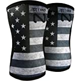 Second Nature Knee Sleeves (1 Pair) 7mm Neoprene Support for Weightlifting, Powerlifting & Squats - Unisex