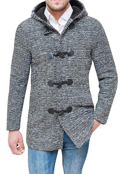 buy online 077bf c4d5f Evoga Cappotto Montgomery Uomo Sartoriale Casual Tweed Giacca Invernale