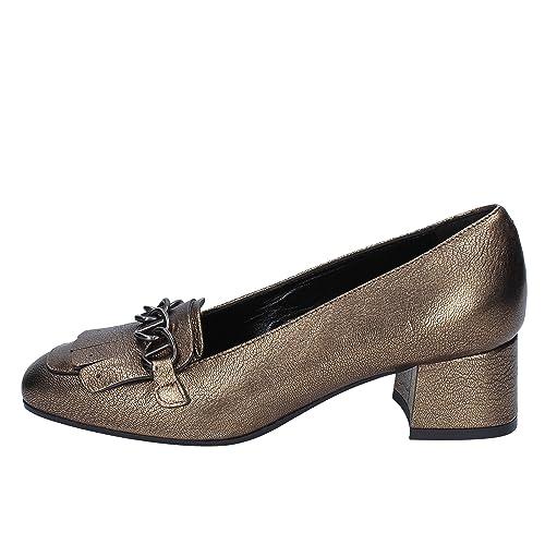 Jeannot Mocasines de Piel Para Mujer Marrón Bronce Marrón Size: 36 EU: Amazon.es: Zapatos y complementos