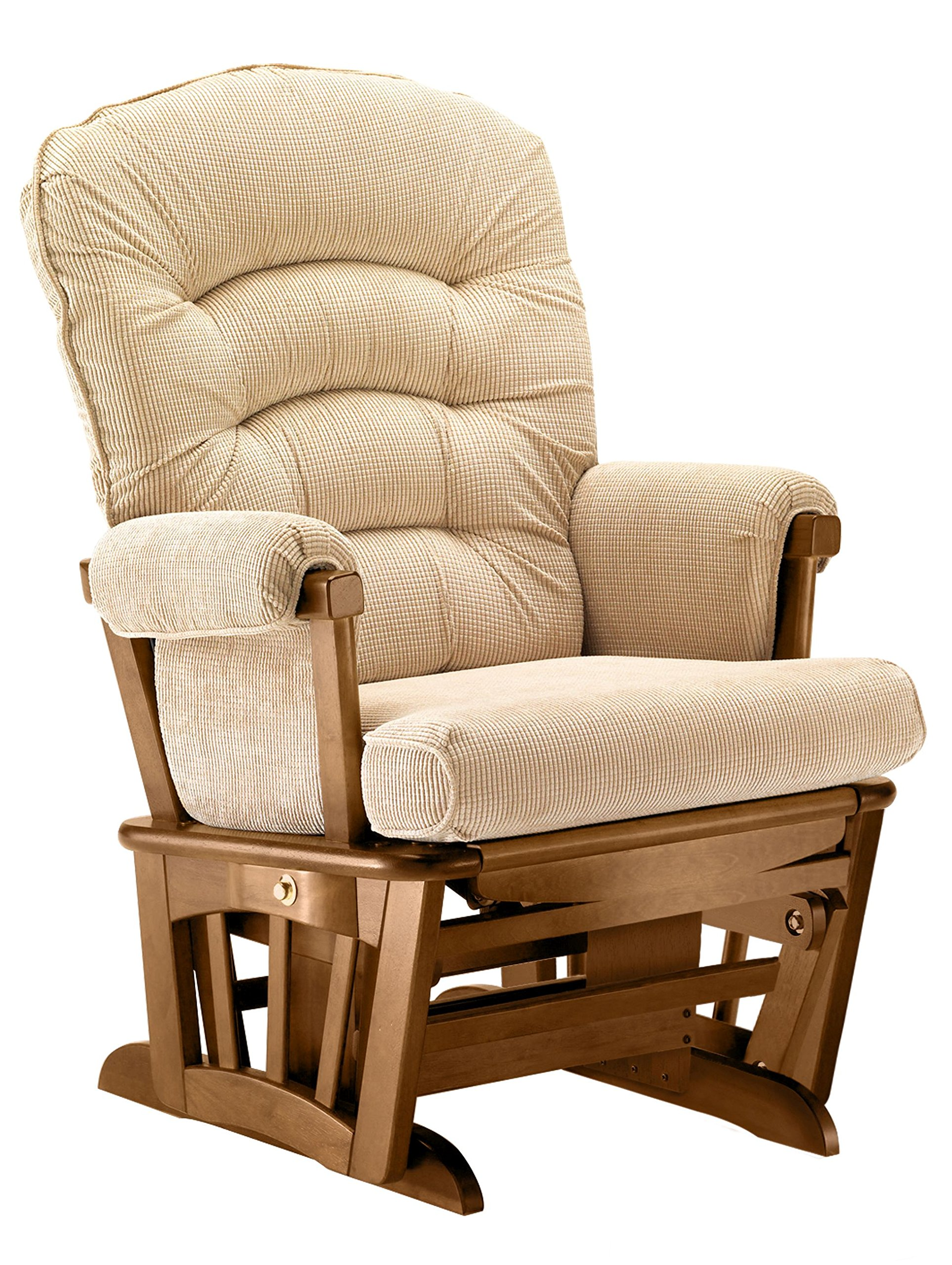 Shermag Extra-wide Glider Recliner multi-features chair, Chestnut/Galaxy Camel