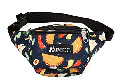 4bbb80ca670 Amazon.com   Everest Signature Pattern Waist Pack, Tacos One Size ...