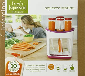 283e5f63b23 Amazon.com   Infantino Squeeze Station Baby Food Maker   Baby Food Storage  Containers   Baby