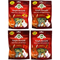 Oxbow Simple Rewards All Natural Oven Baked Treats for Rabbit, Guinea Pigs, Hamsters, and Other Small Animals Variety…
