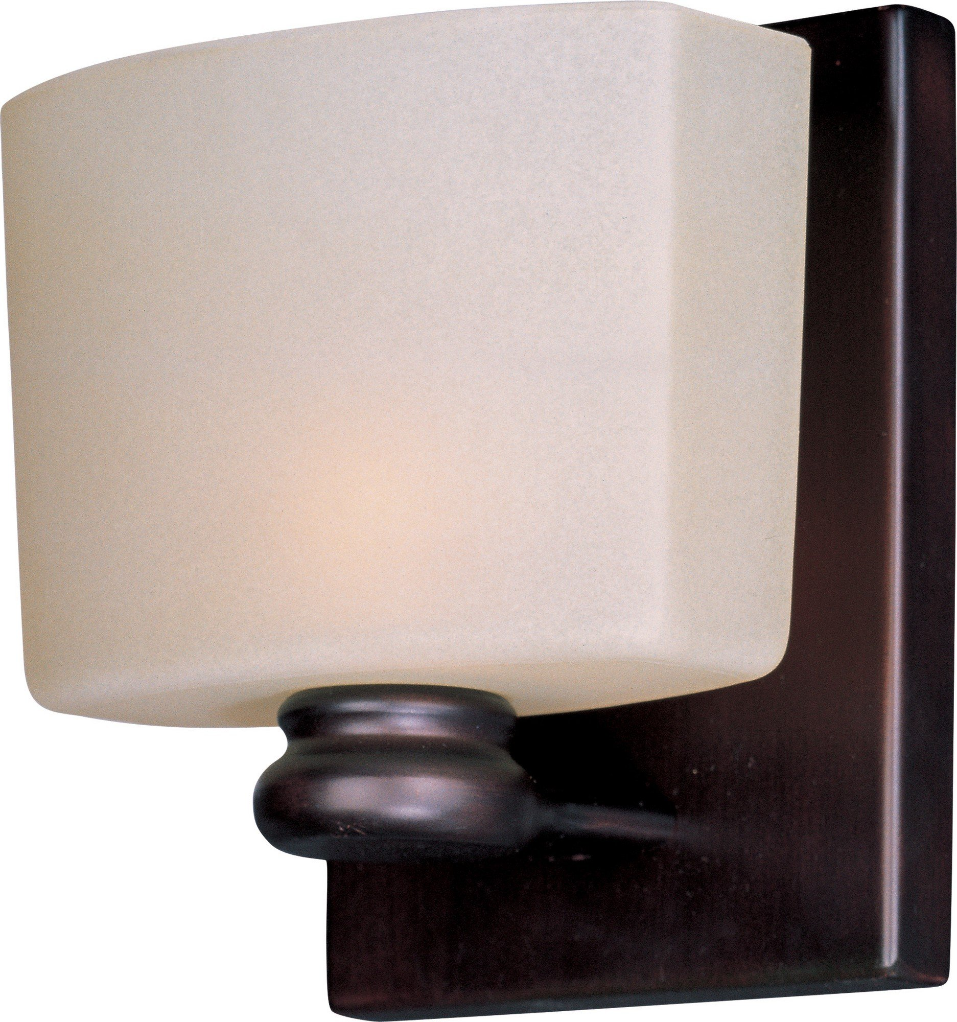 Maxim Lighting 9001DWOI Essence 1 Light ADA Compliant Wall Sconce – Outdoor Lighting with Oil Rubbed Bronze Finish, Dusty White Glass. Lighting Fixtures