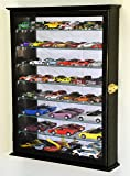 7 Adjustable Shelves Mirrored Hot Wheels / Matchbox / Diecast Cars / 1/64 1/43 Model Display Case Cabinet, Black