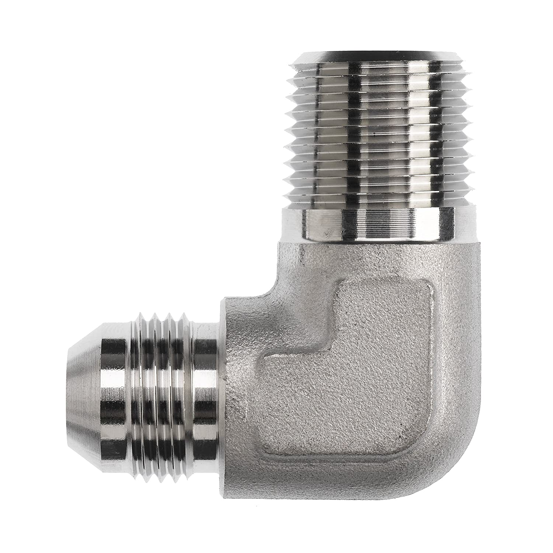 3//4 Male JIC x 3//4 Male NPTF Brennan Industries 2501-L-12-12-FG Forged Steel 90 Degree Elbow Long Adapter 1.062 Flats 1-1//16-12 SAE x 3//4-14 NPTF Thread 3//4 Male JIC x 3//4 Male NPTF 1.062 Flats Inc. 1-1//16-12 SAE x 3//4-14 NPTF Thread