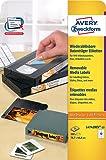 Avery Zweckform L4742REV-25 Etiketten für VHS-Videokassetten (A4, 300 Stück, 78,7 x 46,6 mm) 25 Blatt weiß