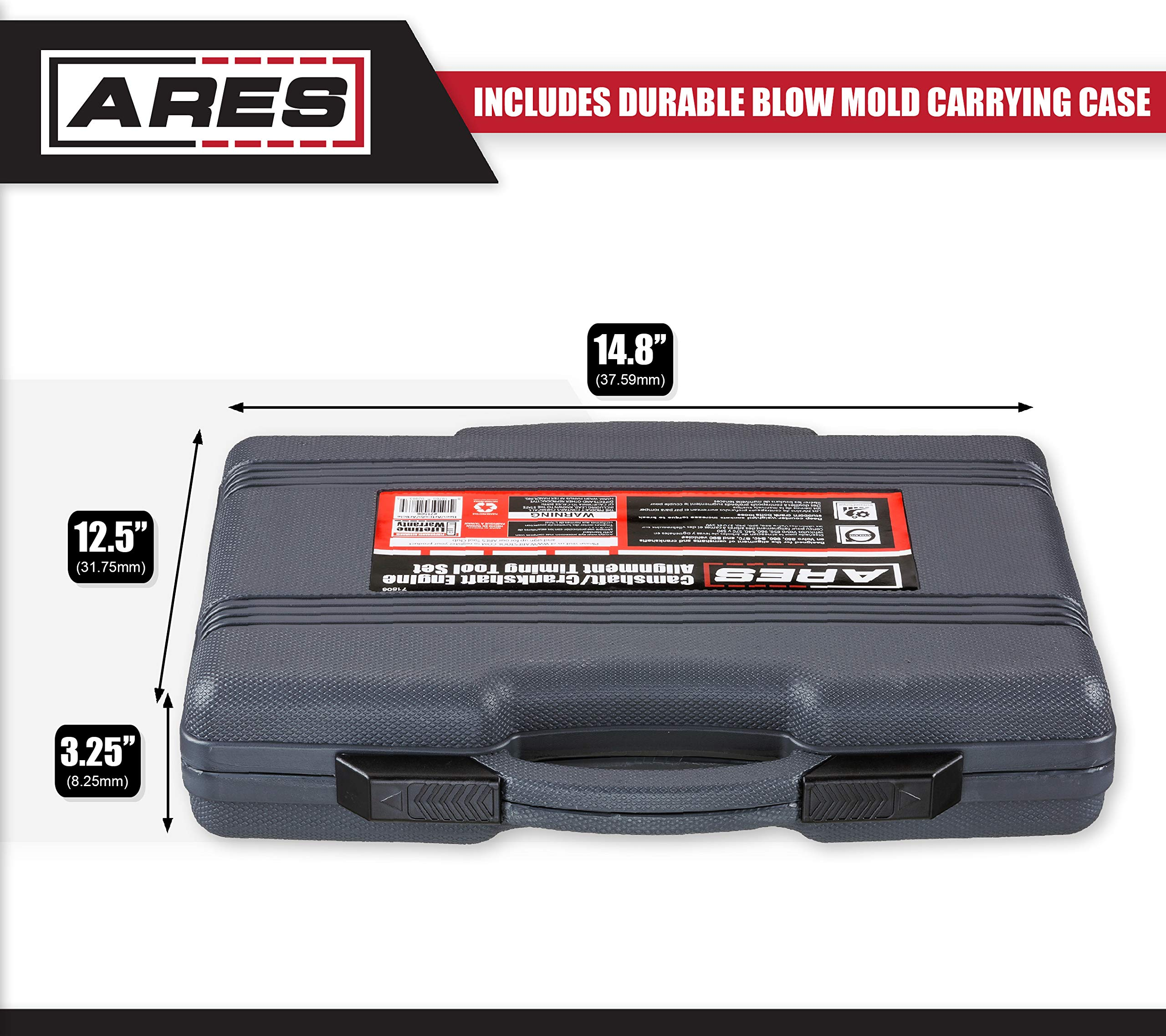 ARES 71506 | Volvo Camshaft, Crankshaft, and Timing Alignment Master Tool Set | Deep Counter-Weighted Sockets for Increased Torque | Correctly Install Camshafts with Cam Cover by ARES (Image #3)