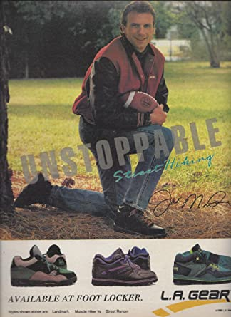 24d8dc14b5f0 PRINT AD With Joe Namath For 1990 LA Gear Shoes Unstoppable Street Hiking  at Amazon s Entertainment Collectibles Store