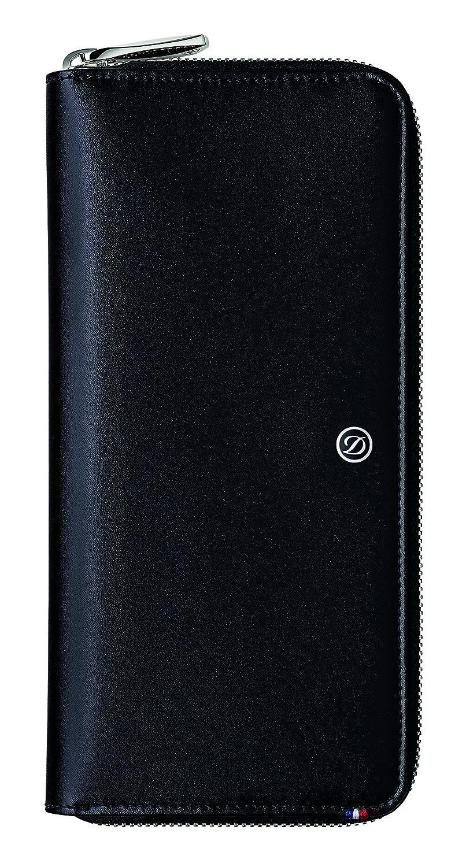 [エステーデュポン] ラインD ジッパー長財布 ブラック ラウンドファスナータイプ お札収納3つ カード8枚収納 ジッパー付コインケース1つ 収納ポケット2つ 180044 B074XHJRCQ  ブラック