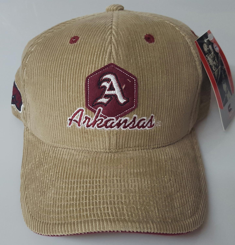 新しい。NCAA University of Arkansas Razorbacks刺繍コーデュロイキャップ B078VJ381G