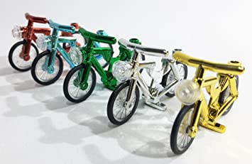 5 Pack Lego Compatible Chrome Bicycles Bikes By Brick