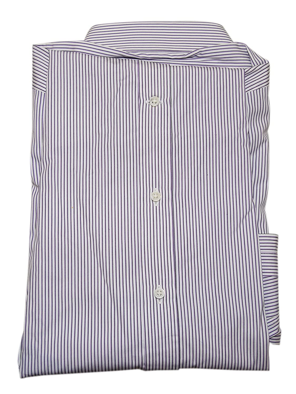85eb6c7930ce8 Ralph Lauren Polo Black Label Mens Dress Shirt White Purple Pinstripe Italy  14.5 at Amazon Men s Clothing store