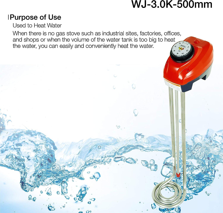 Calefactor de inmersión, longitud 57 cm, 3000 W, calentador para ...