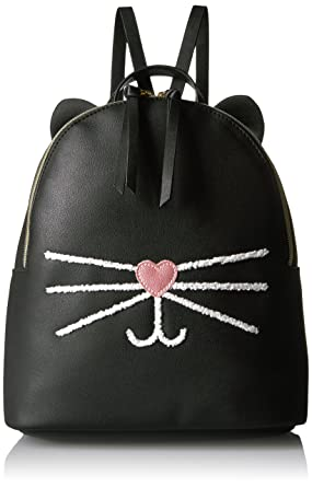 65581bbe9 T-Shirt & Jeans Cat Face Back Pack, Black: Handbags: Amazon.com