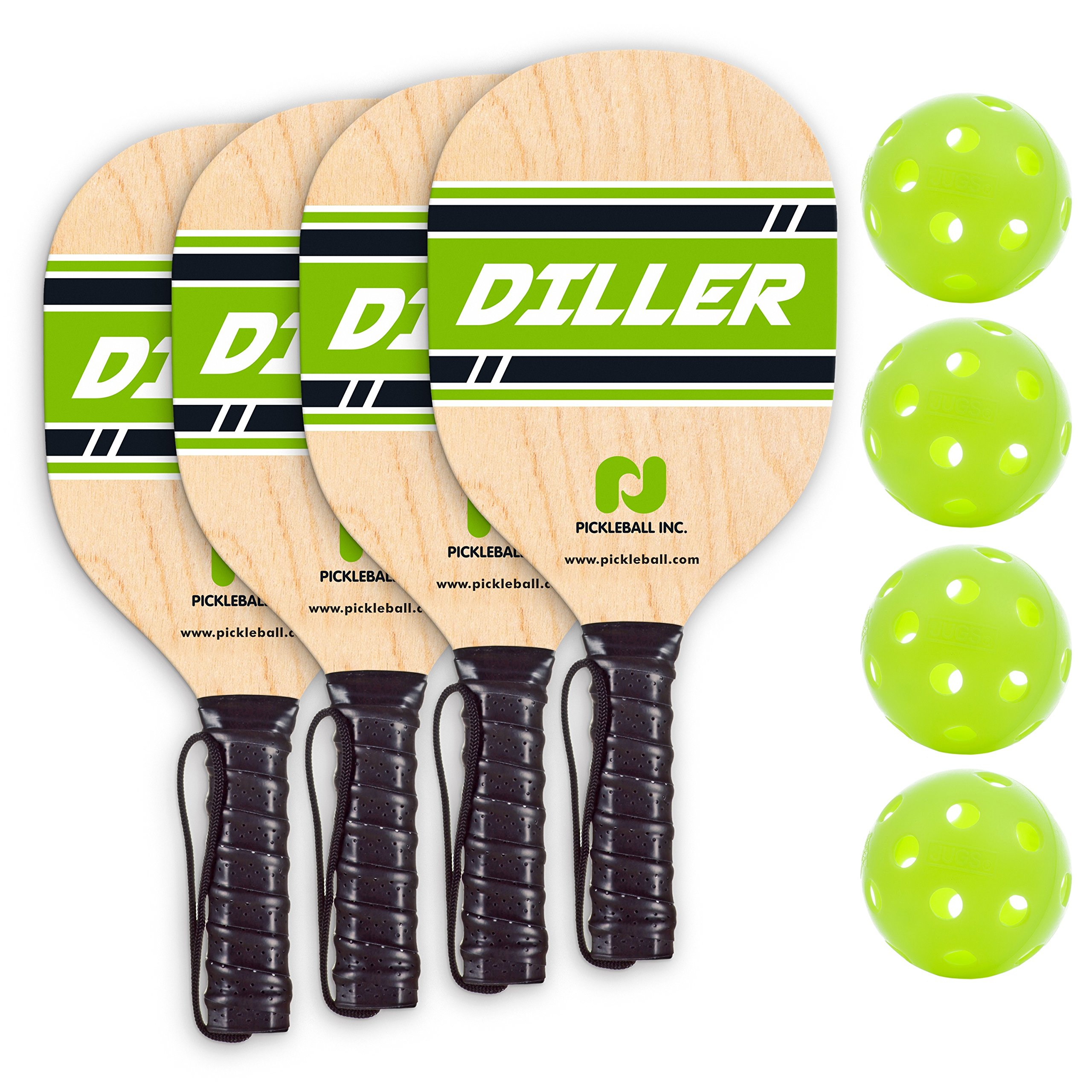 Pickle-Ball, Inc. Pickleball Diller Tournament Net Set (Set Includes Metal Frame + Net + 4 paddles + 4 balls + Rules Sheet in Carry Bag) by Pickle-Ball (Image #8)